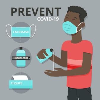 Deve ter itens para impedir o coronavírus