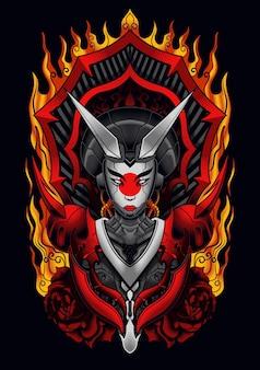 Devil mecha geisha