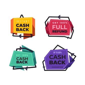 Devolução de dinheiro de crachás de compras