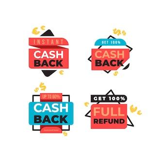 Devolução de dinheiro de etiquetas de compras