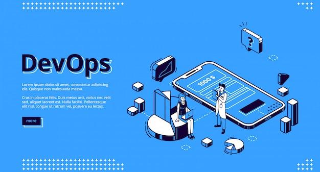 Devops, página de destino das operações de desenvolvimento