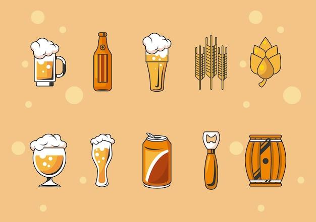 Dez ícones de cervejas