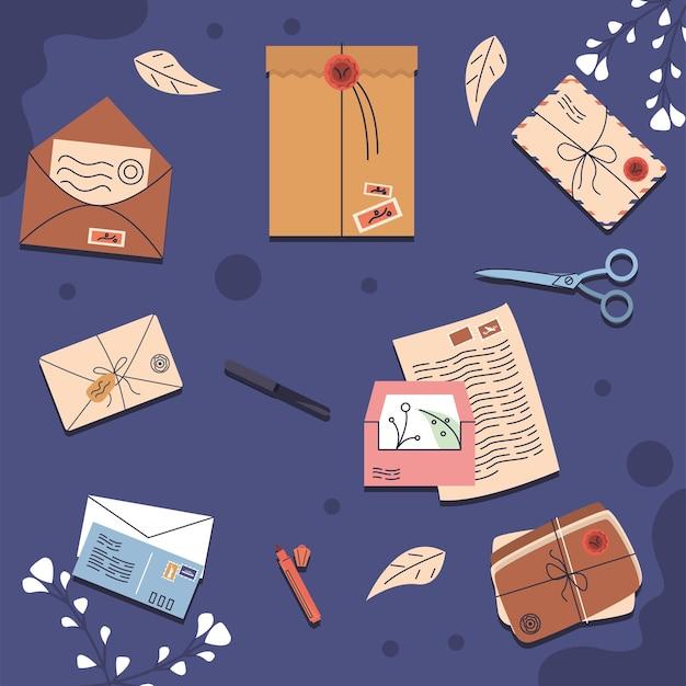 Dez ícones do serviço postal