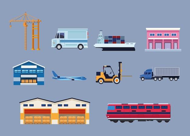 Dez ícones logísticos