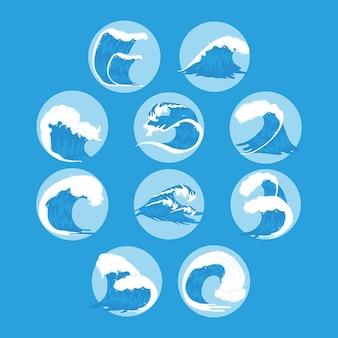 Dez ondas do oceano