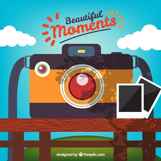 Dia ao ar livre com uma ilustração de câmara