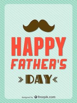 Dia cartão retro feliz do pai