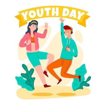 Dia colorido da juventude