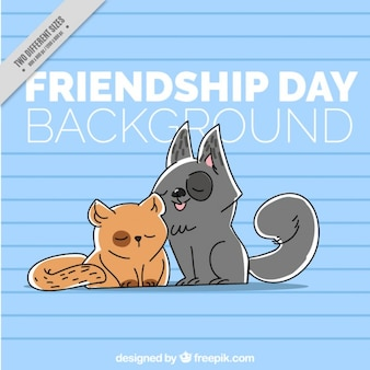 Dia da amizade, amigos animais