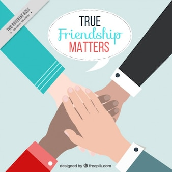 Dia da amizade com as mãos fundo
