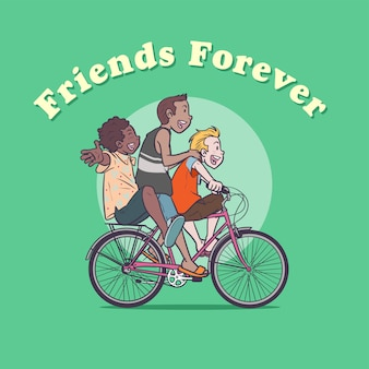Dia da amizade - passeio de garupa
