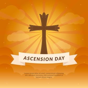 Dia da ascensão com cruz sagrada