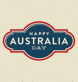 Dia da austrália - 26 de janeiro - design tipográfico vintage
