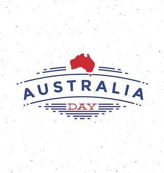 Dia da austrália - design tipográfico com mapa de meio-tom