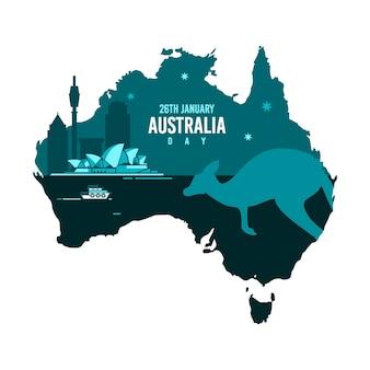 Dia da austrália em design plano