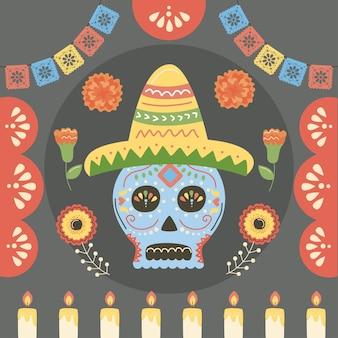 Dia da celebração mexicana dos mortos