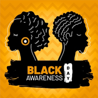 Dia da consciência negra de design plano