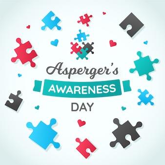 Dia da conscientização do asperger flat international