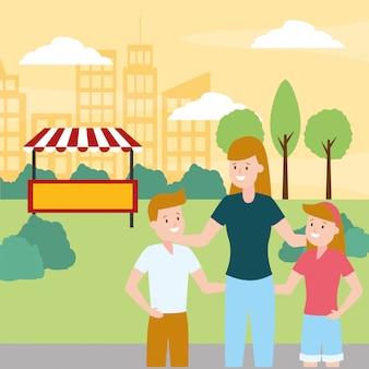 Dia da família ao ar livre