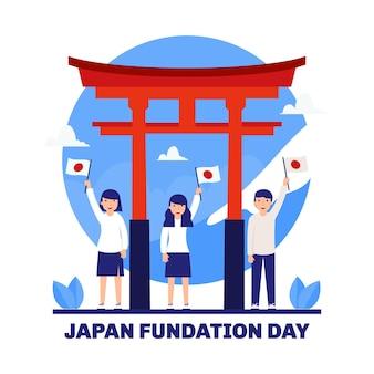 Dia da fundação plana ilustrado pessoas