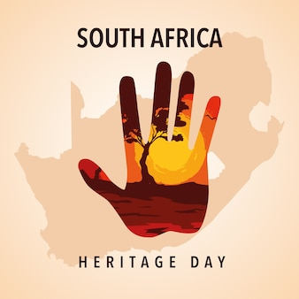 Dia da herança da áfrica do sul, ilustração