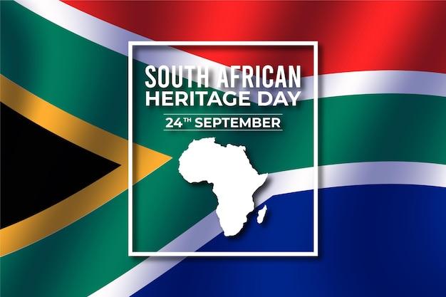 Dia da herança design realista da áfrica do sul