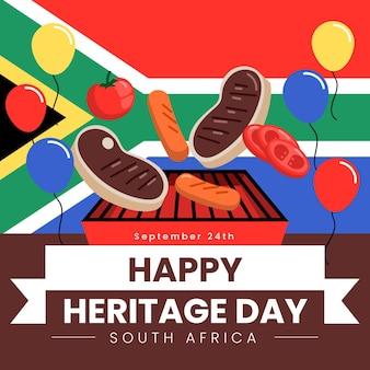 Dia da herança plana áfrica do sul