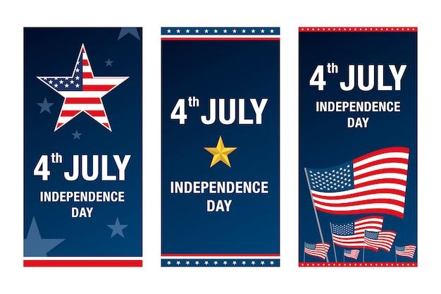Dia da independência 4 de julho banner.