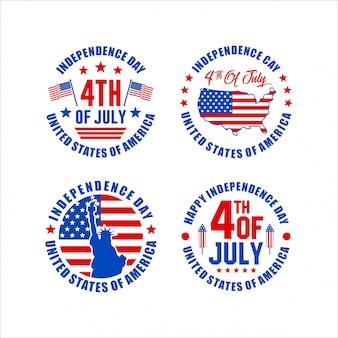 Dia da independência 4 de julho coleção de design dos estados unidos da américa