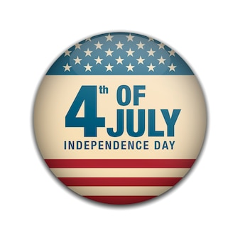 Dia da independência 4 de julho emblemas.