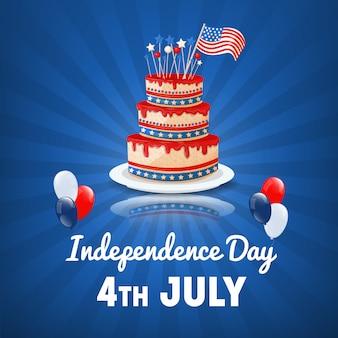 Dia da independência americana. 4 de julho feriado nos eua. fundo do dia da independência. ilustração vetorial