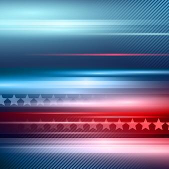 Dia da independência americana. fundo vermelho e azul listrado