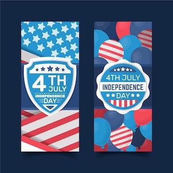 Dia da independência banners conceito