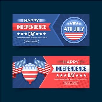 Dia da independência banners design