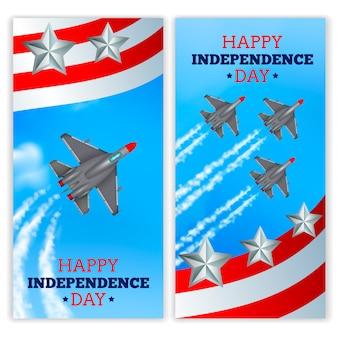 Dia da independência celebração militar airshow