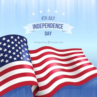 Dia da independência com bandeira americana