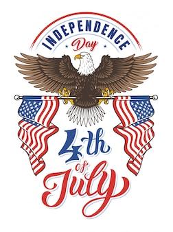 Dia da independência da águia americana