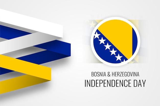Dia da independência da bósnia e herzegovina em comemoração