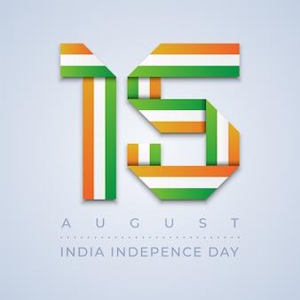 Dia da independência da índia 15 de agosto bandeira rion