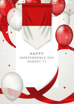 Dia da independência da indonésia em 17 de agosto