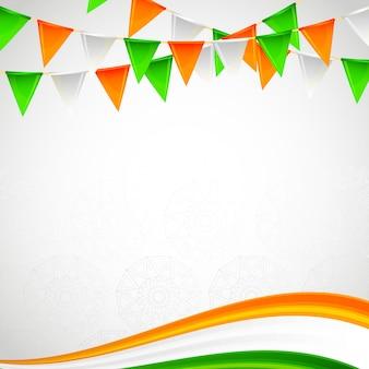 Dia da independência de cartão de quadro em branco indiano