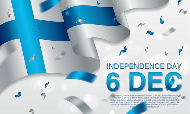 Dia da independência de finland do fundo o 6 de dezembro.