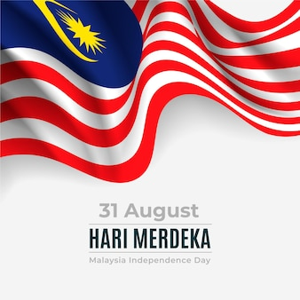 Dia da independência de merdeka malásia com bandeira