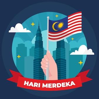 Dia da independência de merdeka malásia