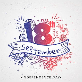 Dia da independência do chile background design