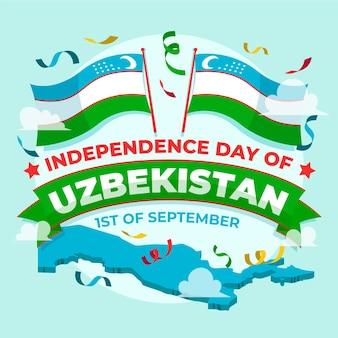 Dia da independência do conceito de uzbequistão