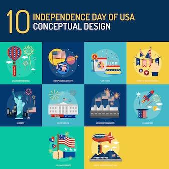 Dia da independência do design conceitual dos eua