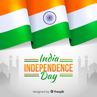 Dia da independência do estilo plano de plano de fundo de india