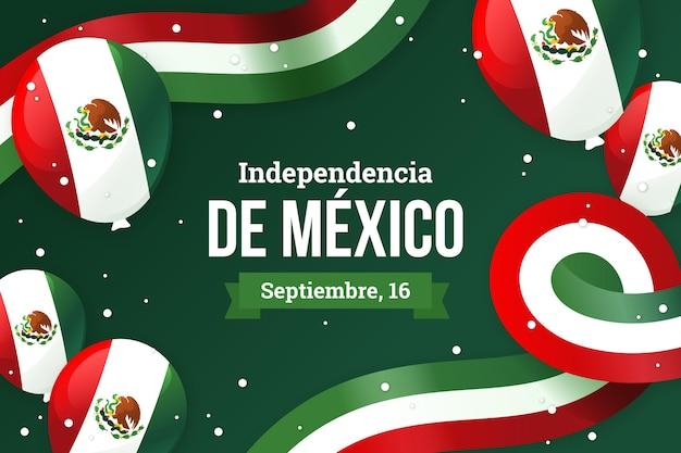 Dia da independência do fundo do méxico