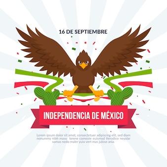 Dia da independência do méxico em design plano